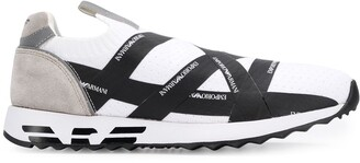 Emporio Armani Logo Tape Slip-On Sneakers