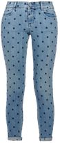 Stella McCartney skinny ankle grazer blue star jeans
