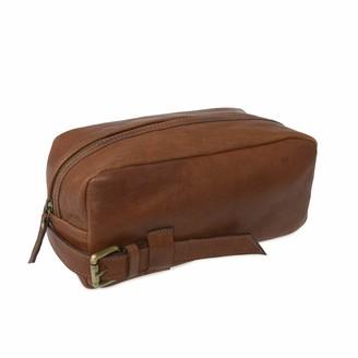 Vida Vida Wandering Soul Brown Leather Wash Bag Buckle