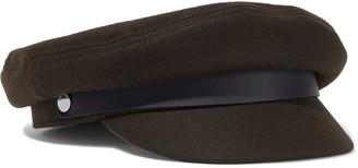 Rag & Bone Leather-trimmed Wool-blend Felt Cap