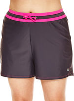 Free Country Drawstring Solid Swim Shorts - Plus