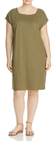 Eileen Fisher Plus Short Sleeve Square Neck Dress