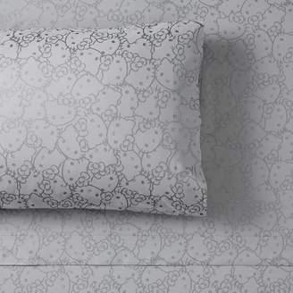 Pottery Barn Teen Hello Kitty Metallic Pillowcases, Set of 2, Pewter