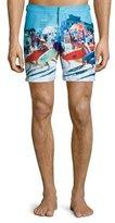 Orlebar Brown Bulldog Happy Sandboys Print Swim Trunks