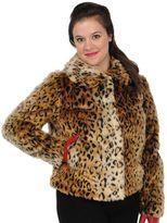 Excelled Leopard Faux-Fur Coat