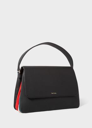 Paul Smith Women's Black Leather 'Concertina' Medium Shoulder Bag