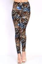 New Mix Zebra Cheetah Print Leggings