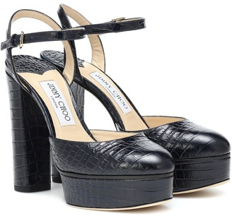 Jimmy Choo Maple 125 platform leather pumps