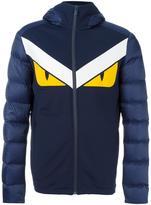 Fendi Bag Bugs padded jacket - men - Feather Down/Leather/Polyamide/Spandex/Elastane - 48