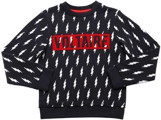 Zadig & Voltaire All Over Arrow Print Cotton Sweatshirt
