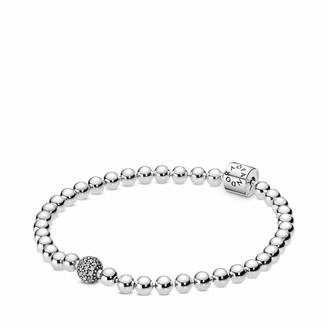 Pandora Women Silver Tennis Bracelet 598342CZ-21