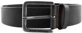 BOSS ORANGE Leather Jeek Belt Black