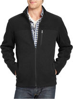 Izod Full-Zip Pieced Shaker Fleece Jacket
