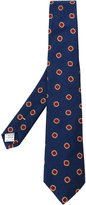 Canali floral pattern knitted tie