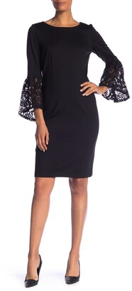Nanette Lepore Lace Bell Sleeve Shift Dress