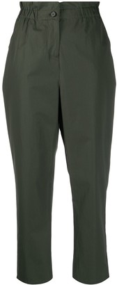 Aspesi Cropped Paper-Bag Waist Trousers