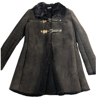 Miu Miu Brown Shearling Coat for Women