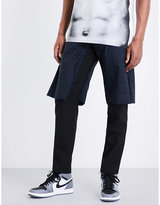 Comme Des Garcons Checked-overlay Skinny Wool Trousers