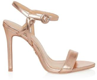 Lipsy Covered Buckle Barely There Heels - UK 3 (EU 35.5) - Gold