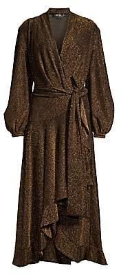 PatBO Women's Metallic High-Low Wrap Dress - Size 0