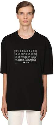 Maison Margiela LOGO PRINTED COTTON T-SHIRT