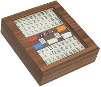 Agresti Walnut mahjong box