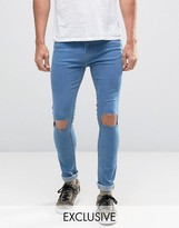 Reclaimed Vintage Super Skinny Jeans With Knee Rips