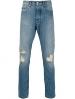 Ami Alexandre Mattiussi distressed regular fit jeans