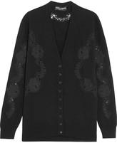 Dolce & Gabbana Lace-paneled cashmere cardigan