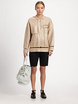 Alexander Wang Lambskin Leather Suspension-Cutout Jacket