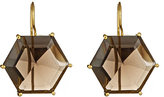 Anya Jewels Smoky Topaz and Gold Drop Earrings