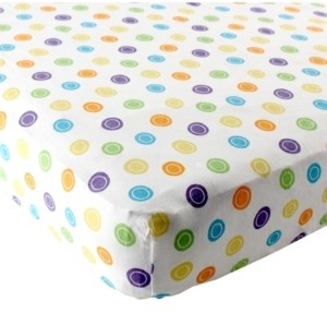 Luvable Friends Fitted Knit Crib Sheet, Yellow, One Size