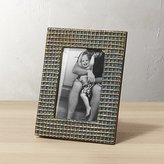 CB2 Graph Burnt Brass 4x6 Picture Frame