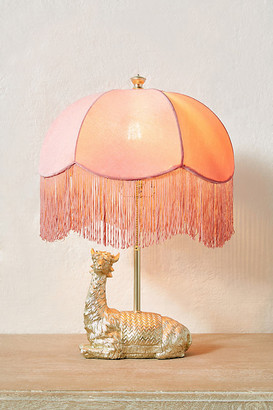 Anthropologie Lars the Llama Table Lamp By in Gold Size M