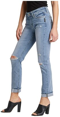 Silver Jeans Co. Avery High-Rise Curvy Fit Straight Leg Jeans L94419AJX278 (Indigo) Women's Jeans