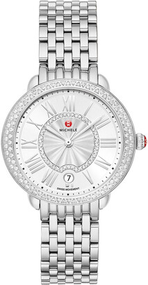 Michele Serein Mid Diamond Watch w/ Date