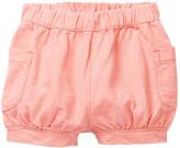Tea Collection Denim Like Cargo Shorts (Baby Girls)