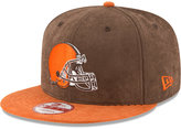 New Era Cleveland Browns Summer Suede 9FIFTY Snapback Cap