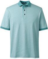 Classic Men's Tall Short Sleeve Stripe Supima Polo Shirt-Evening Cobalt Stripe
