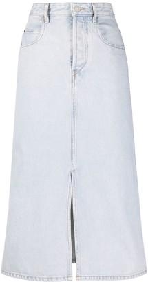 Etoile Isabel Marant High-Waisted Denim Skirt
