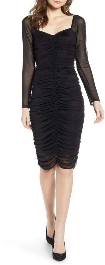 Leith Ruched Sheath Dress
