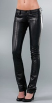 Paige Denim Black Label Hyde Park Skinny Leather Pants