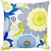 Trina Turk 20x20 Trellis Pillow - Turquoise/White
