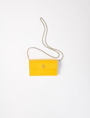 Maje Crocodile wallet with chain