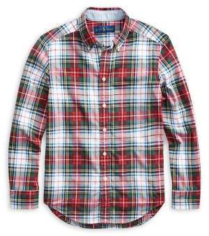 Ralph Lauren Childrenswear Boy's Plaid Stretch Cotton Madras Shirt