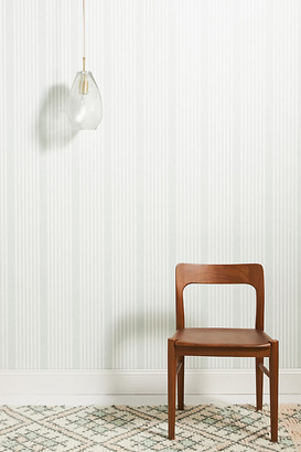 York Wall Coverings French Linen Stripe Wallpaper By York Wallcoverings in Green