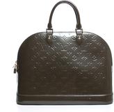 Louis Vuitton Vernis Vert Bronze Alma GM Bag