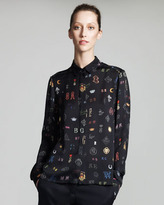 Stella McCartney Monogram-Print Blouse