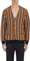 Lanvin MEN'S STRIPED MERINO WOOL CARDIGAN