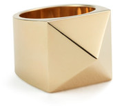 Lena Wald Large Gold Pyramid Ring in Yellow Gold, Size 5
